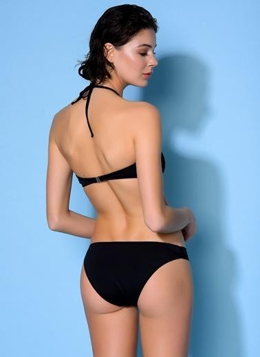 Loves You Transparan Bikini Takım Siyah